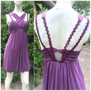 Free People Mauve Criss Cross Halter Summer Dress